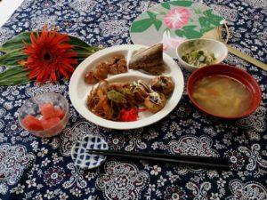 夏祭り食事写真